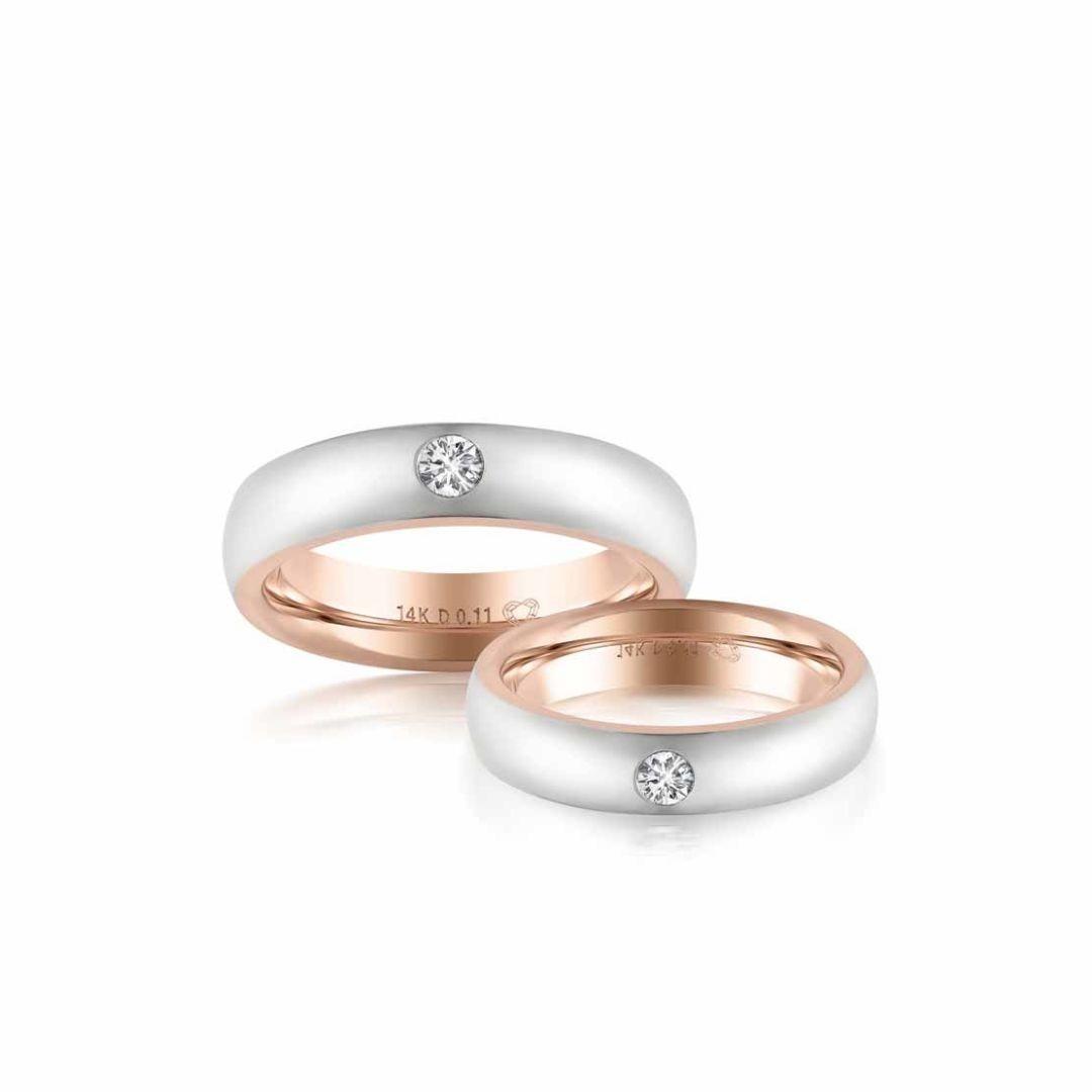 Nhẫn cưới vàng nữ New Journey
