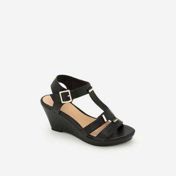 Giày Sandal Cao Đế Xuồng - Màu Đen - SDX 0402
